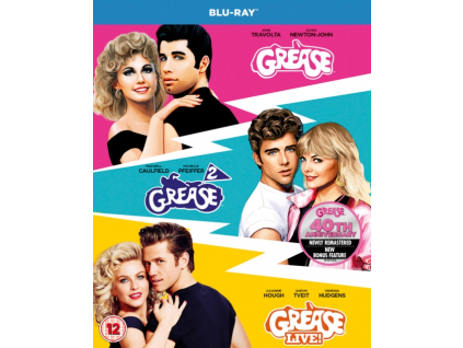 Grease / Grease 2 / Grease Live - Anniversary Edition Blu-Ray