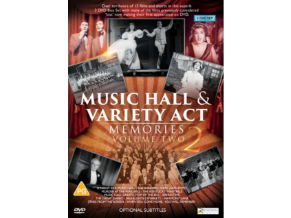 Music Hall and Variety Act Memories Collection Volume 2 DVD