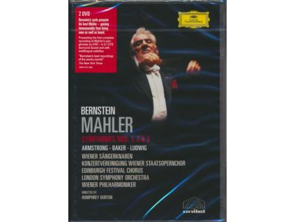 LEONARD BERNSTEIN - Mahler/Symphonies Nos 1 2 & 3 (DVD)