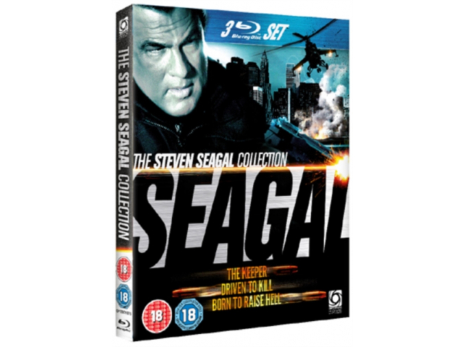 Steven Seagal Collection -Driven to Kill/The Keeper/Born to Raise Hell (Blu-Ray)