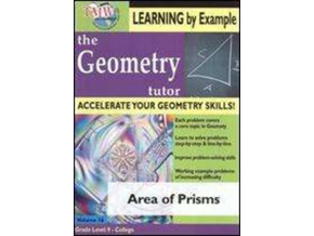 Geometry Tutor - Area Of Prisms (DVD)