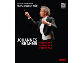 MOST / THE CLEVELAND ORCH - Johannes Brahms: Symphony No. 1 / Symphony No. 2 / Symphony No. 3 (Blu-ray)