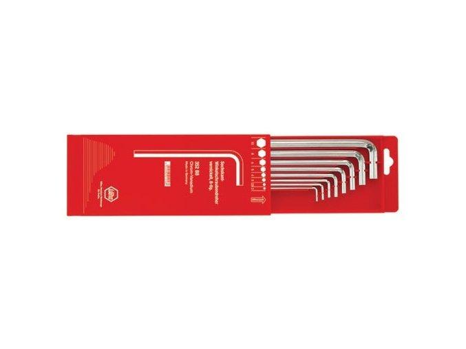 Sada šestihraných prodloužených klíčů (inbus) - 8 dílná WIHA 352B8