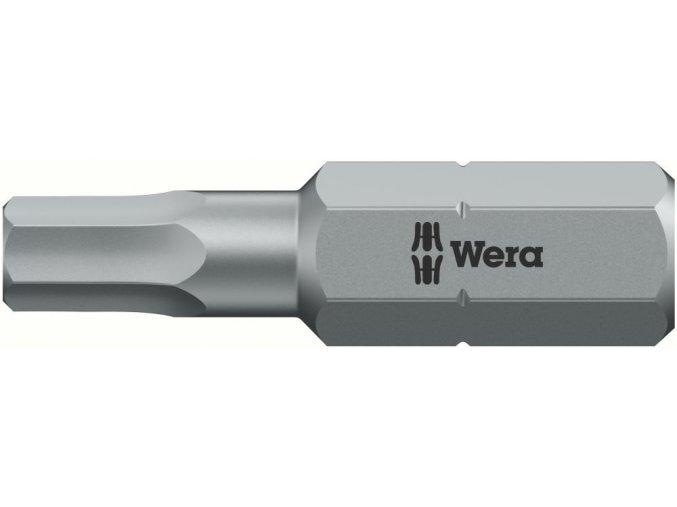 """Bit vnitřní 6-hran Wera tvrdý typ 1/4"""" DIN 3126 C 6,3 - 3x25mm (05056315001)"""