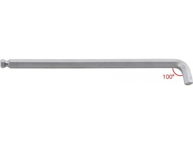 Šestihranný inbusový klíč Format se zkráceným ramenem 100°, dlouhý  - 1,5 mm