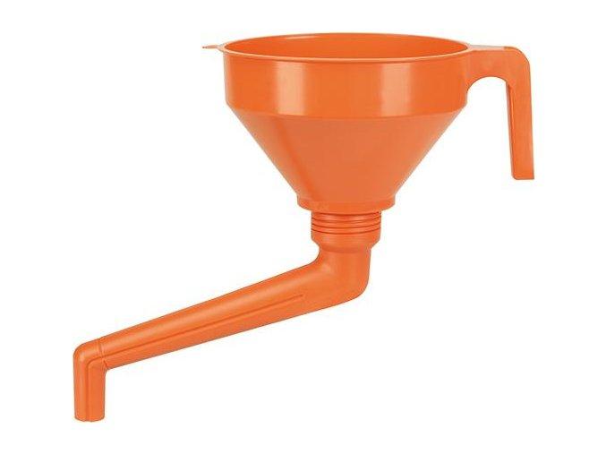 Plastový trychtýř Pressol se zalomenou trubkou 02562 - 160 mm