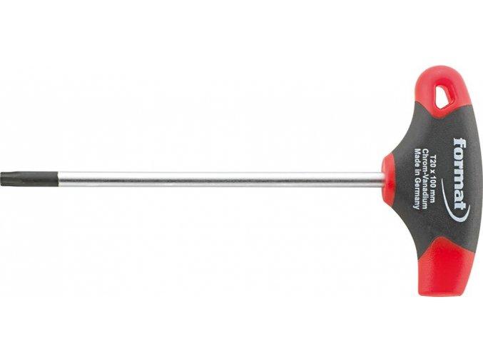 Šroubovák  FORMAT Torx  s příčnou rukojetí  T10 - 100 mm