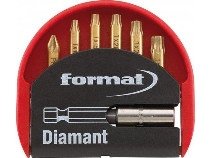 Sada bitů Format - 7 dílná (TORX, PH)  s diamantovou povrchovou úpravou