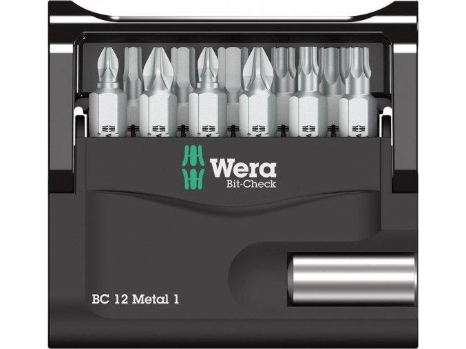 Sada bitů Wera Bit-Check 12 Metal 1 (05057424001)
