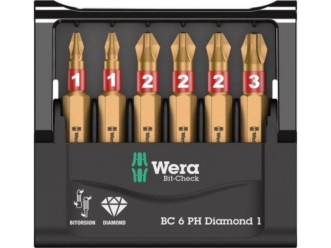 Sada bitů Wera Bit-Check 6 PH Diamond 1 (05057404001)
