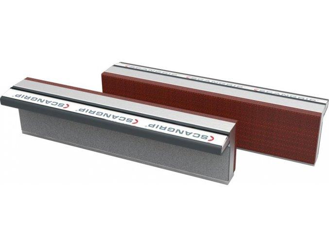 Ochranné magnetické hliníkové čelisti s fíbrovou vrstvou Scangrip - 100 mm (100F)