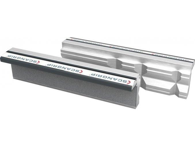 Ochranné magnetické hliníkové čelisti Scangrip se svislými prizmami - 125 mm (125P)