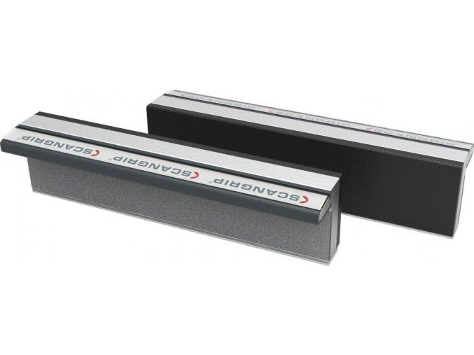 Ochranné magnetické hliníkové čelisti Scangrip s pryžovou vrstvou - 135 mm (135GS)