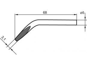 Náhradní pájecí hrot ve tvaru dláta, zalomený 3,1 mm pro Ersa 30S (0032JD/SB)