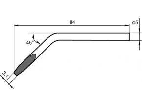 Náhradní pájecí hrot ve tvaru dláta, zalomený 4,8 mm pro Ersa S80 (082 JD/SB)