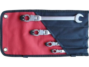 Sada převlečných ráčnových klíčů Format 10 - 19 mm (4 dílná)
