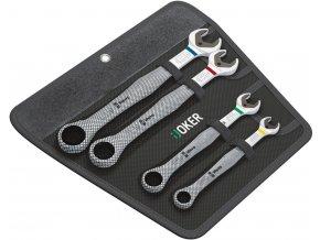 Sada 4 dílná očkoplochých ráčnových klíčů Wera Joker 10-19 mm (05073290001)