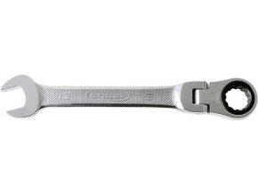 Očkoplochý ráčnový klíč kloubový Format 13 mm