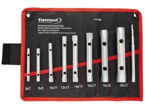 Sada 9 dílná trubkových nástrčných klíčů Format 6 - 22 mm