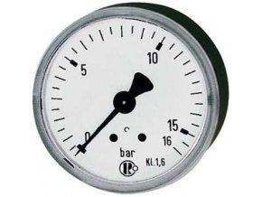 """Manometr se zadním připojením 1/4"""" - Ø63 mm  0-6 bar"""