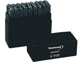 Razidla s písmeny Format - velikost 4 mm