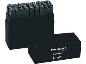 Razidla s písmeny Format - velikost 8 mm