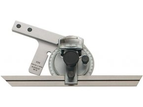 Kovový úhloměr s lupou Format INOX - 200 mm