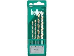 Sada spirálových univerzálních vrtáků Heller Allmat 5,6,8,10 mm (22697)