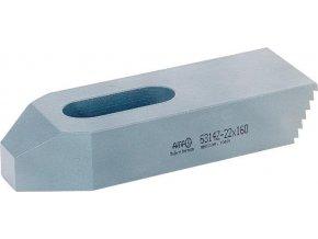 Jednoduchá upínka se zuby a šroubem AMF 6314Z - 22x160 mm (70409)