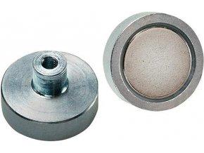 Magnetické ploché chapadlo Format NDFEB se závitem M4 - Ø25 mm