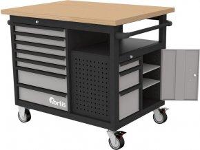 Pojízdný pracovní stůl Fortis 1120x790x1005 mm