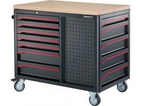 Pojízdný dílenský stůl Format 2018 - 1160 x 720 x 1010 mm