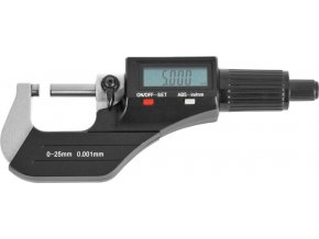 Digitální mikrometr Fortis 0-25 mm bez datového rozhraní