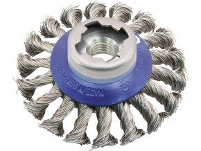 Kuželový kartáč Osborn X-LOCK ocelový, copánkový 100x10 mm  (0004-622 131)