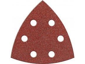 Brusný papír na suchý zip Fortis trojúhelník 94mm - K80 (bal.6 kusů)