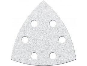 Brusný papír na suchý zip Fortis trojúhelník 94mm - K240 (bal.6 kusů)