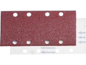 Brusný papír na suchý zip Fortis 93x178mm- K80 (bal.6 kusů)