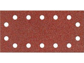 Brusný papír na suchý zip Fortis 115x230mm- K80 (bal.10 kusů)