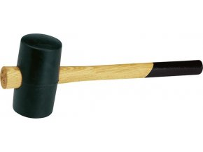 Gumová palice Fortis DIN 5128 černá guma -  65 mm