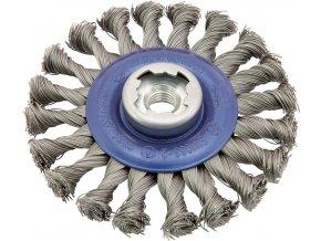 Kotoučový kartáč Osborn ocelový, copánkový 125x22,23 mm