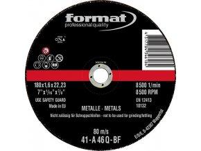 Řezací kotouč Format na ocel, rovný - 115x1,0mm
