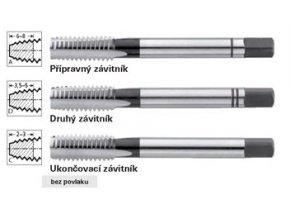 Sada ručních závitníků Format DIN352 HSS levotočivý - M12 x 1,75