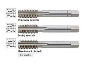 """Sada ručních závitníků Format Whitworth  DIN2184  W1/8"""""""