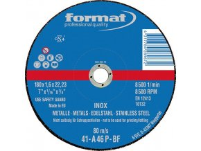 Řezací kotouč Format INOX rovný na V2A  - 115x1,6mm