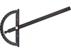 Kovový úhloměr Fortis 0°-180°  - 120/150 mm