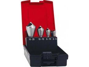 Sada odhrotovacích záhlubníků Format HSS s příčným otvorem 90° 2-20 mm