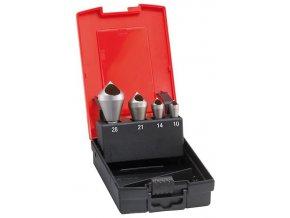 Sada odhrotovacích záhlubníků Format HSS-Co5 s příčným otvorem 90° 2-20mm