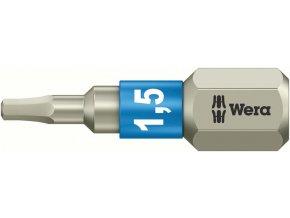 """Bit vnitřní 6-hran Wera nerez 1/4"""" DIN 3126 C 6,3 - 2,5x25mm (05071072001)"""