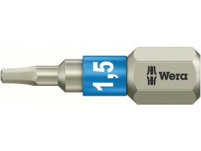 """Bit vnitřní 6-hran Wera nerez 1/4"""" DIN 3126 C 6,3 - 6x25mm (05071076001)"""