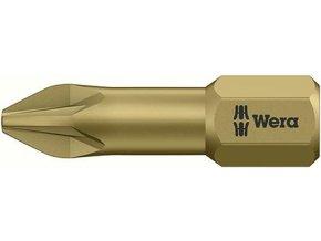 """Bit křižový PZ Wera extra tvrdý 1/4"""" DIN 3126 C 6,3 - PZ1x25mm (05056910001)"""